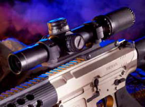 Proof's AR-10 was mounted with Leupold's Mark 8 CQBSS scope, which is rugged and fast to the target. The BDC dial for the M118LR was dead on out to 500 yards.