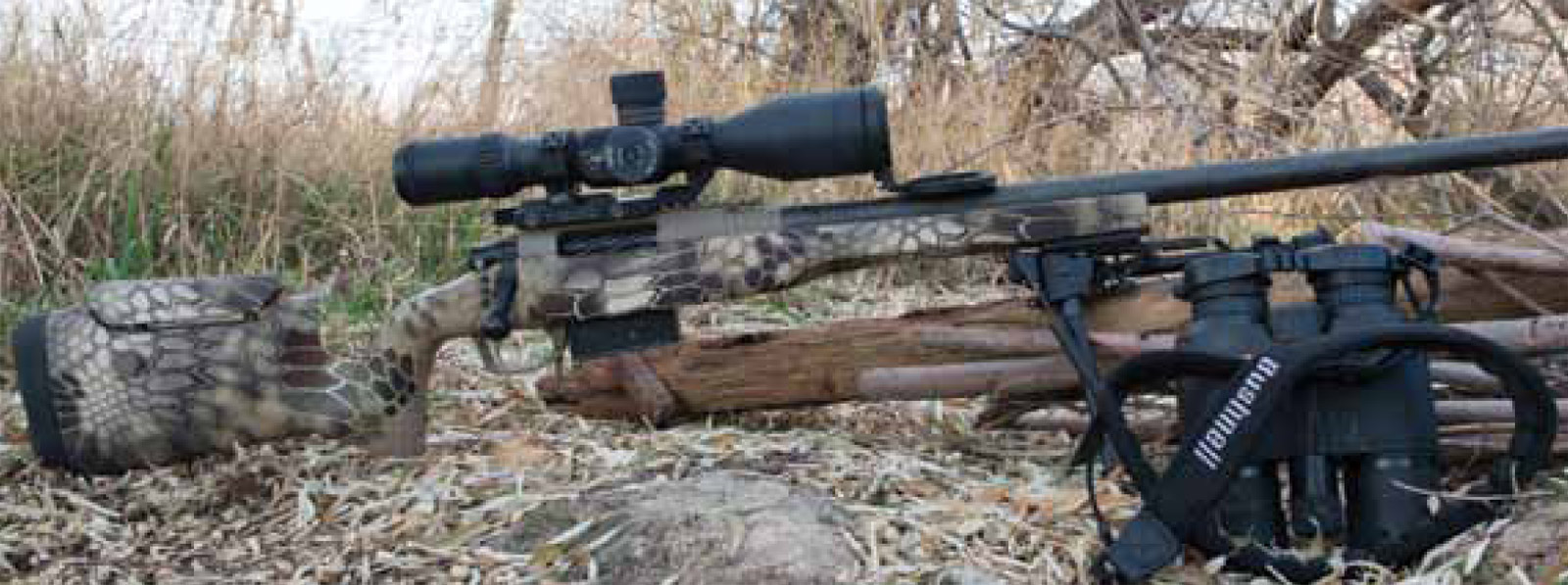 The Tactical II's Kryptek Highlander finish and flat-black, carbon-fiber barrel work well in the field.