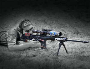 Wyatt Gibson with his Ruger Precision Rifle and PROOF Research barrel